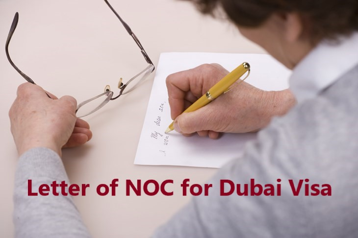 Letter of NOC from the parent / husband for Dubai visa