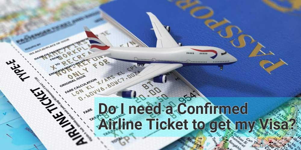 confirmed airline ticket